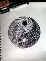 My Yin Yang Zentangle by Call-of-Rudy