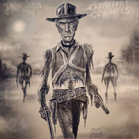 Drawlloween 2017 Day 21: Cadaverous Cowboys