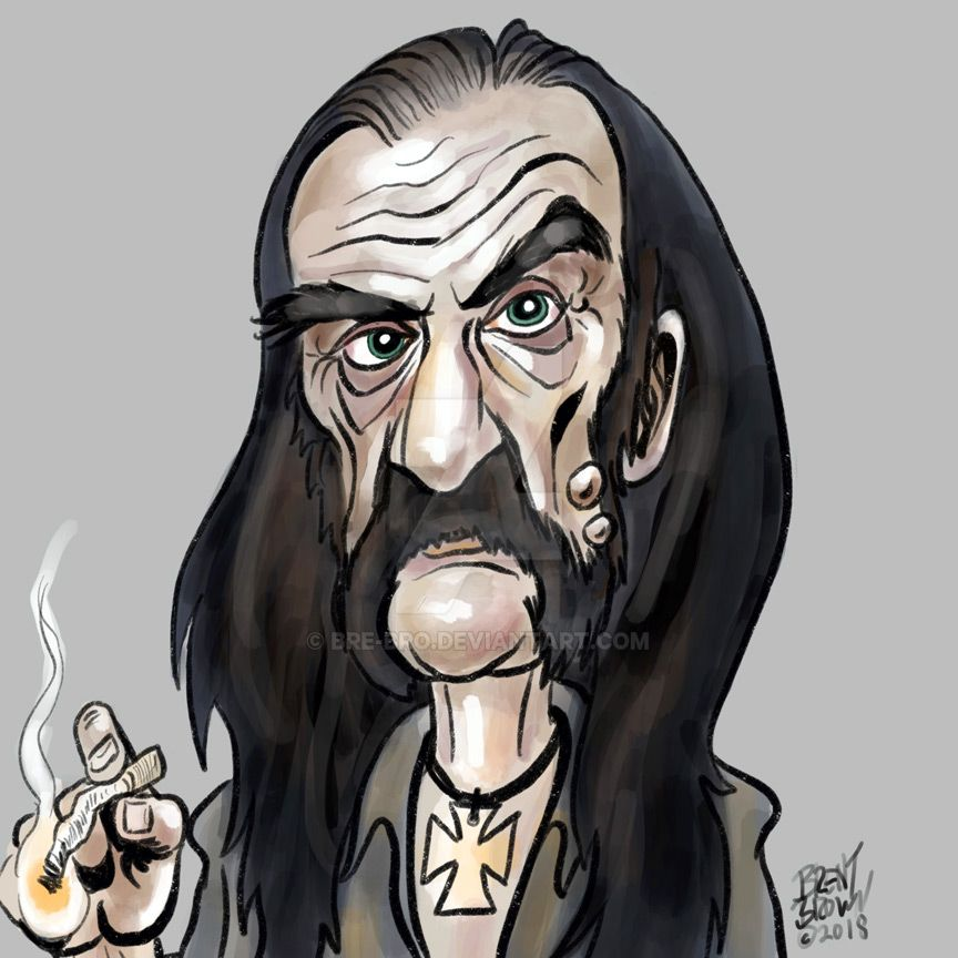 LemmyKilmister-caricatureresolution2018-day27 by bre-bro