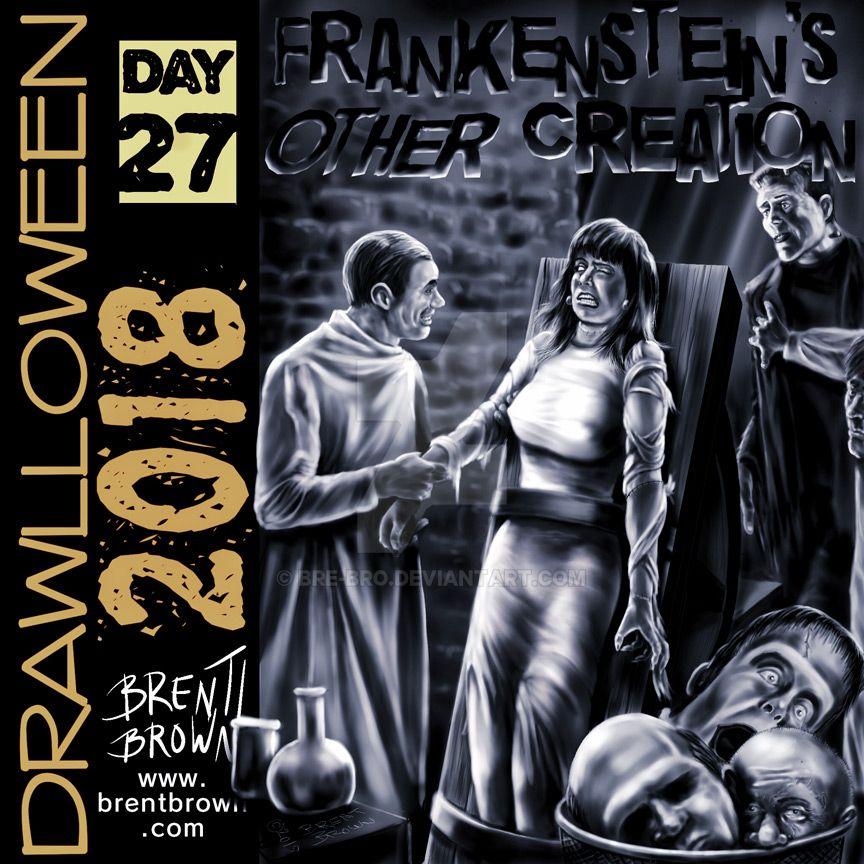 Drawlloween2018-Day-27-Frankensteins by bre-bro