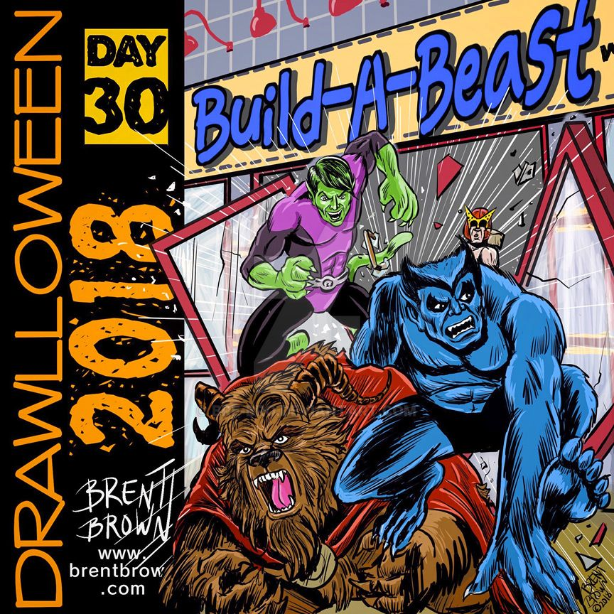 Drawlloween2018-Day-30-beast by bre-bro