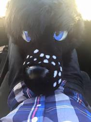 A Deer-Fox fursuit head for Alipup on FA