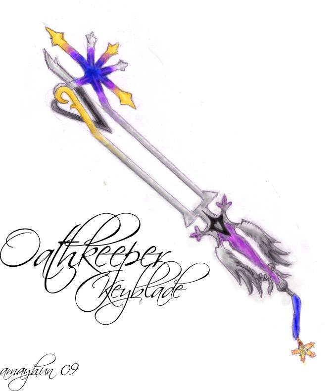 Oathkeeper Keyblade by amayhun on deviantART