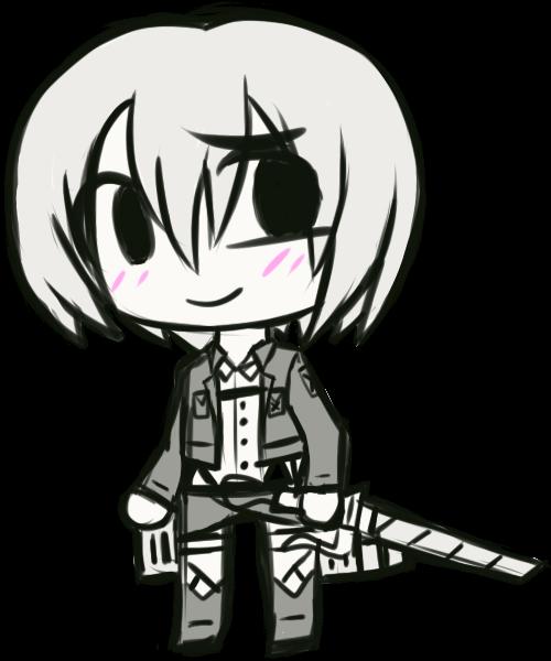 Monochrome chibis: Armin by NeroInu
