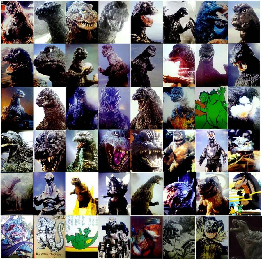 Faces of Godzilla by Godzilla2013