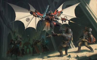 Warhammer 40k - Pteraxii by Dagahaz