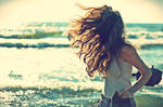 wind hair sea. its all in me by StrangeLoser