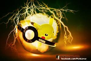 Pikachu Pokeball by CielCode