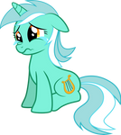 Sad Lyra vector