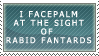 Facepalm at the Sight-Stamp by LinZeldorf