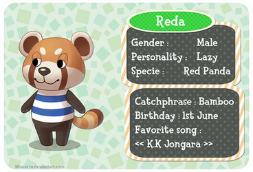 Animal crossing - Red Panda by Miocarre