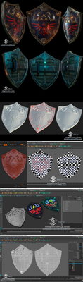 Hyrule shield 3D by J-SantamariaCarpio