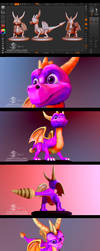 Spyro the dragon Sculpt by J-SantamariaCarpio