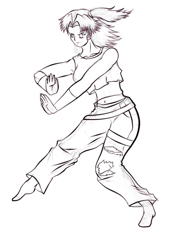 fighting_girl_lineart_by_swordofdeath