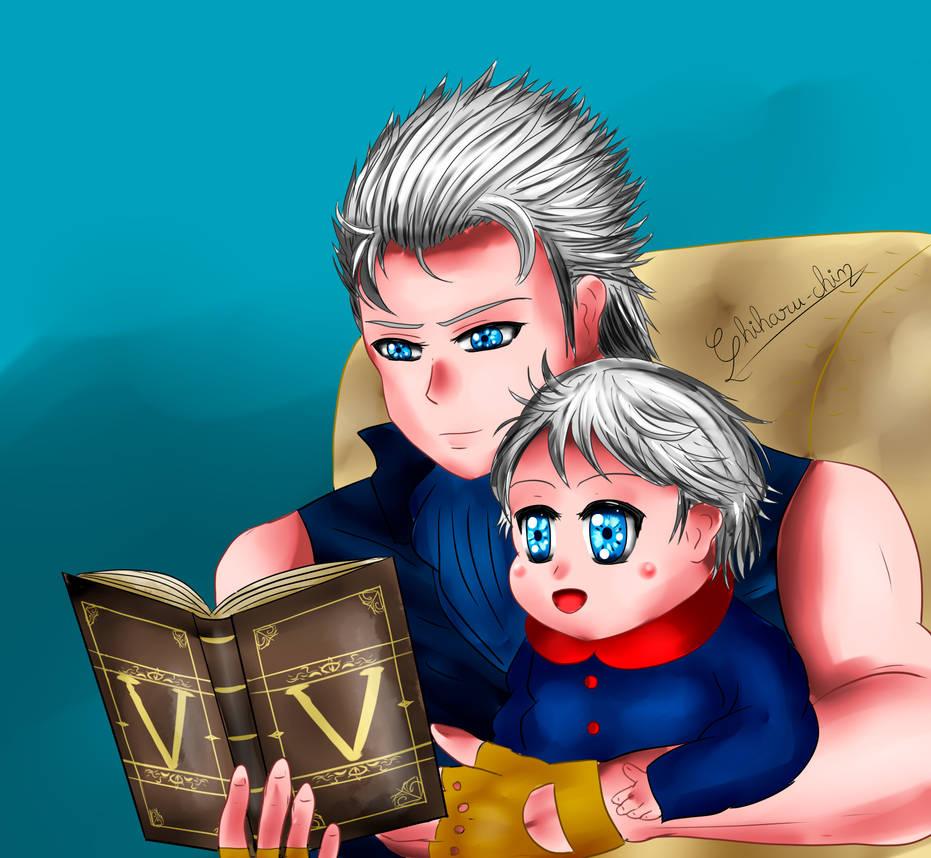 Vergil and Baby Nero by Chiharu-chin on DeviantArt