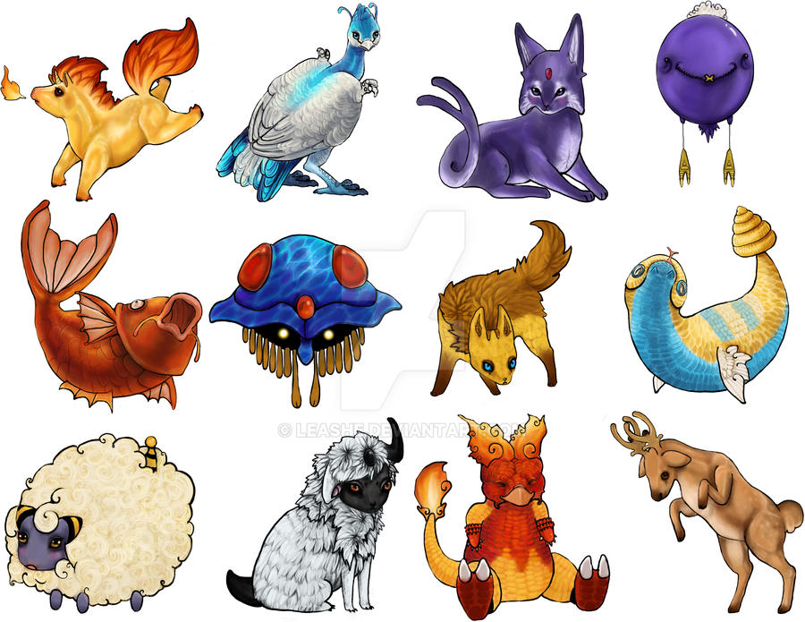 Pokemon Stickers by Leashe
