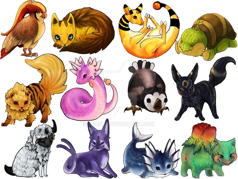 Pokemon Stickers 2 by Leashe