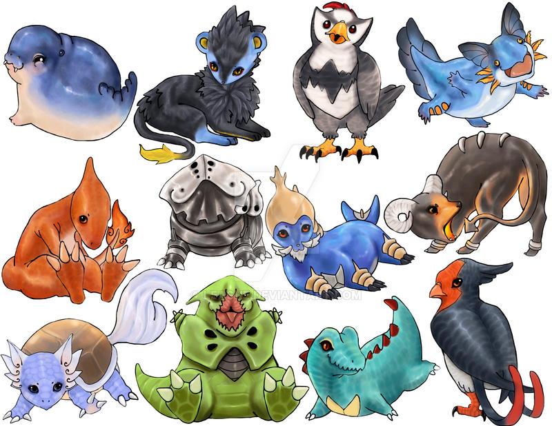 Pokemon Stickers 4 by Leashe