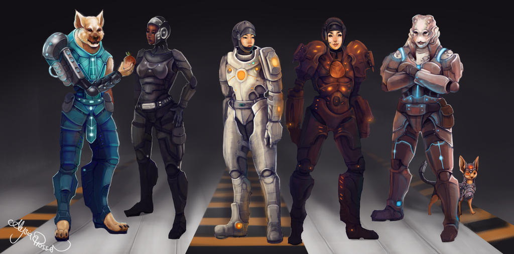 Scifi Characters by Le... Star Wars Characters Art