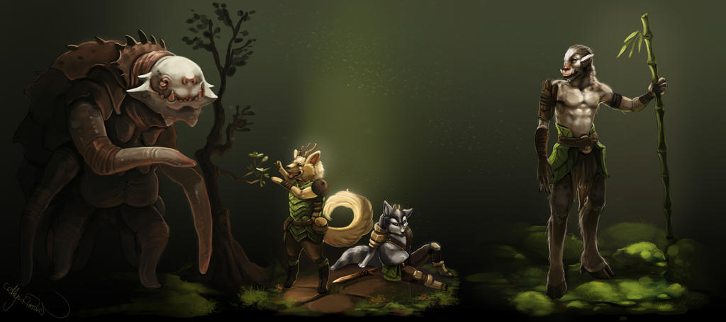 Forest Dwellers by Leashe