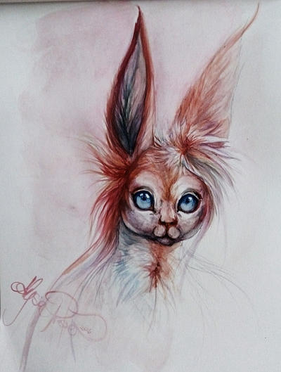 Free Sylveon Painting  by Leashe