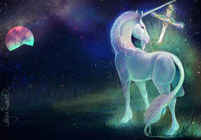 Inktober Unicorn by Leashe