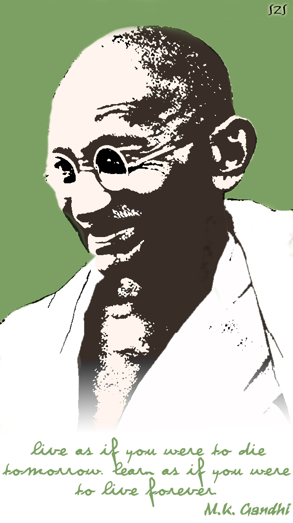 'GANDHI , THE MAN OF PEACE' by howareu