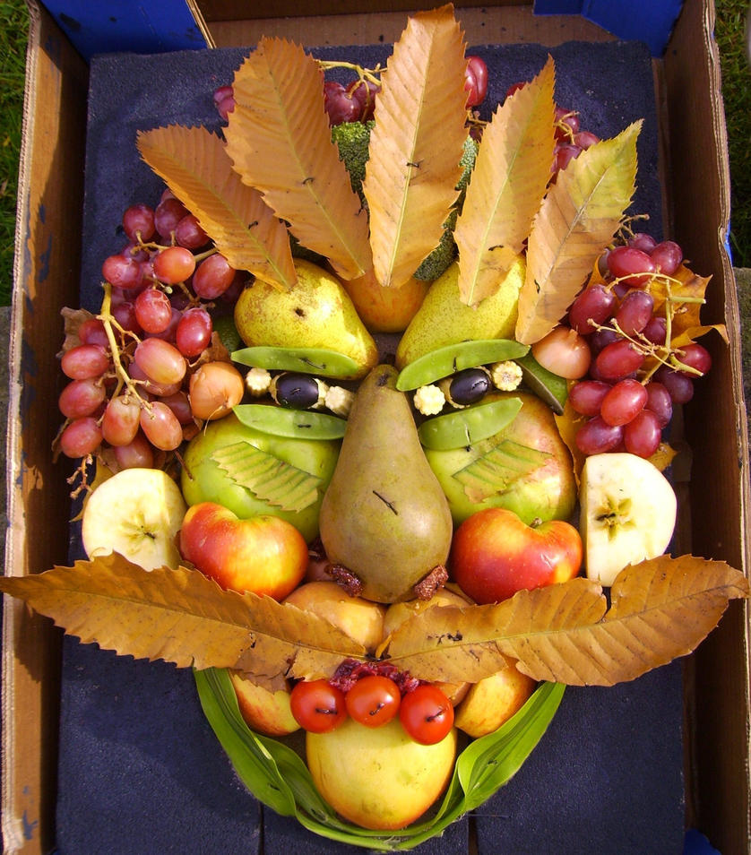 Fruit Vegetable Face Paintings