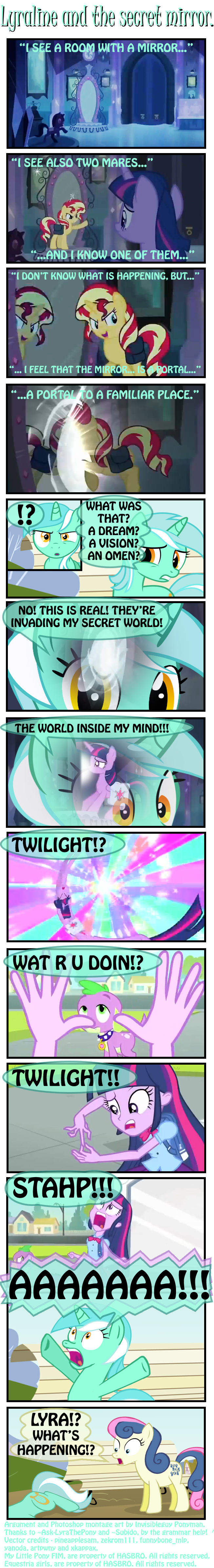 Lyraline and the secret mirror. by INVISIBLEGUY-PONYMAN