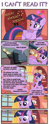I CAN'T READ IT? by PONYMAAN