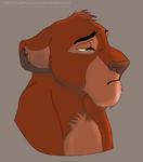 little sad lion