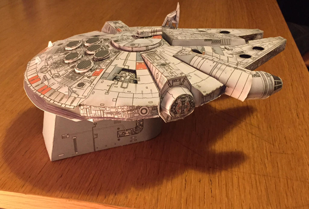 millennium falcon papercraft by 6bits on deviantart