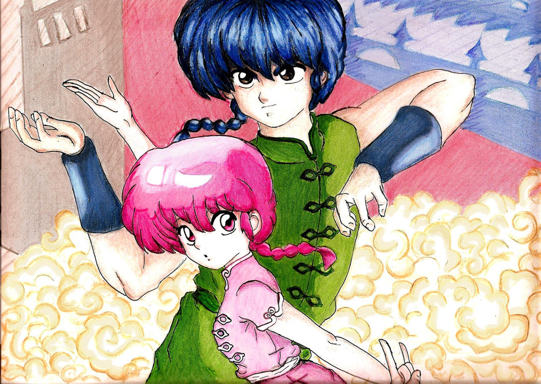 Ranma 1/2: The two faces of the coin by Nicoleivg