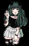 Devilish goth girl