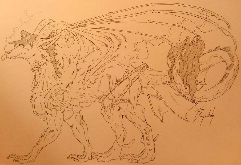 Jotaro Dragon by DragonLindy