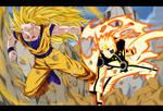 Commission - Naruto VS Goku