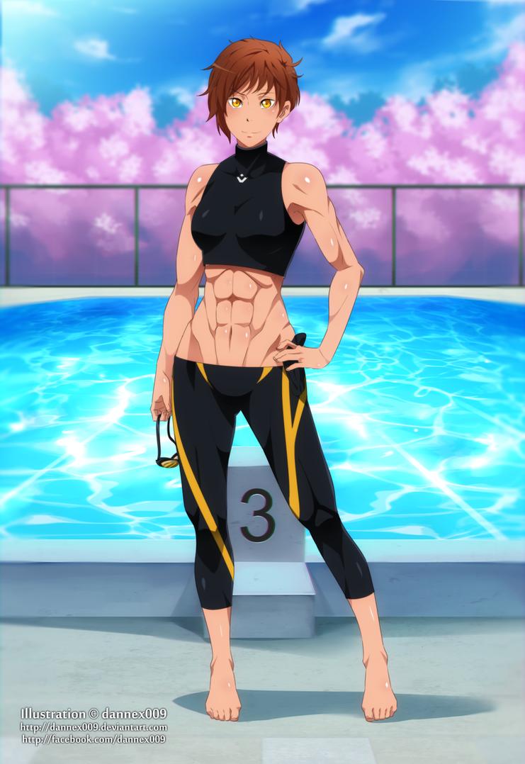 Commission - A New Star in Iwatobis Swim Club by dannex009