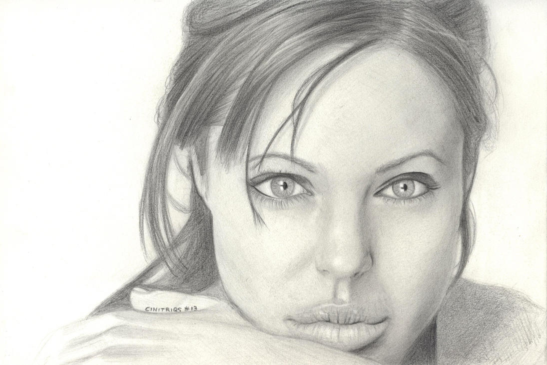 Angelina Jolie Portrait - Fan Art by CiNiTriQs