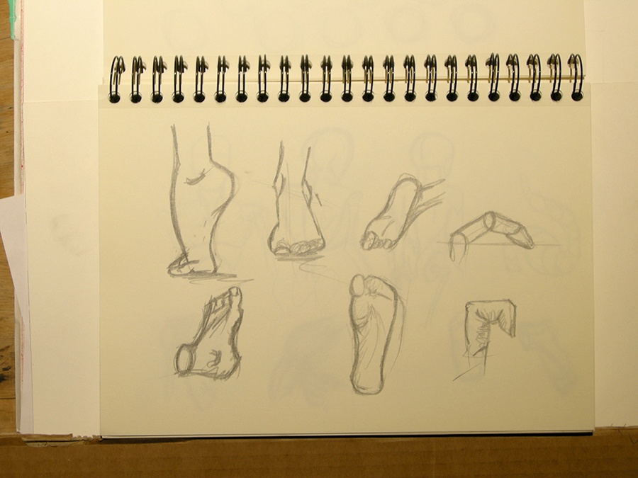 Doodles Studies Sketches08 - Feetish by CiNiTriQs