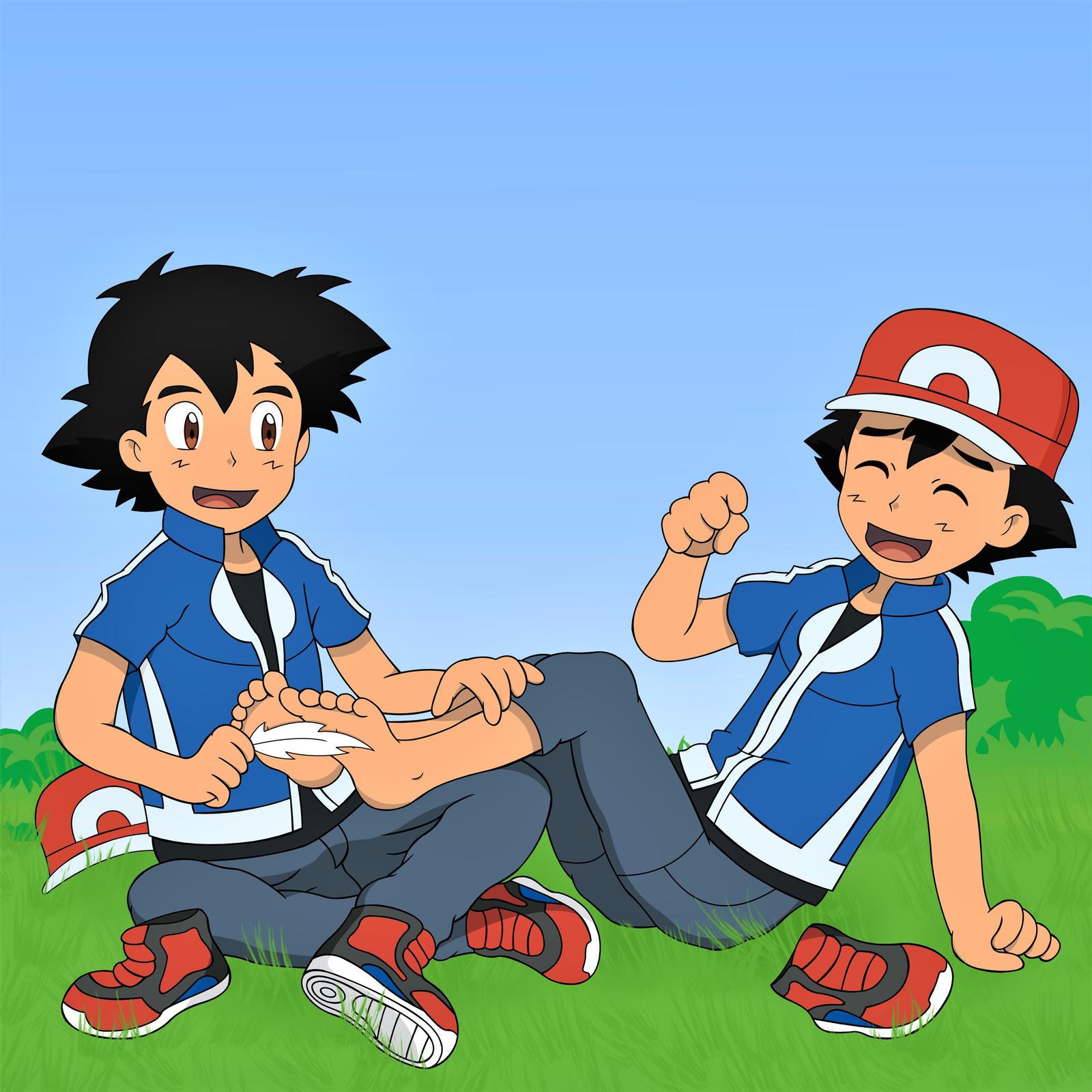 Pokemon Tickle Ash Feet  Hot Girl Hd Wallpaper-3140