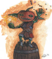 Fantasy character: The Goblin Known as Pumpkin by IacopoDonati