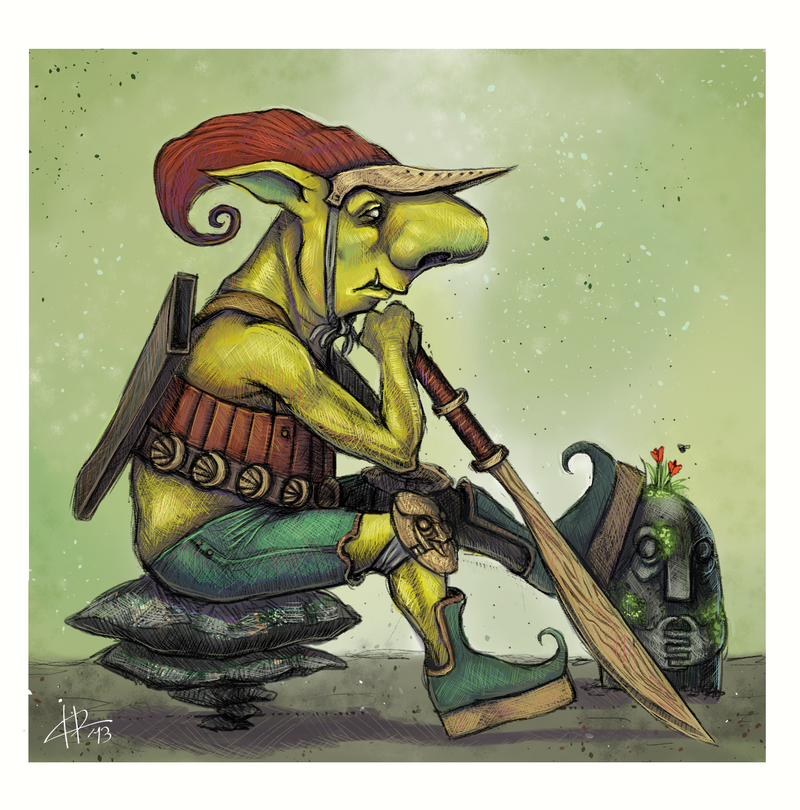 Fantasy character commission: Forest goblin by IacopoDonati