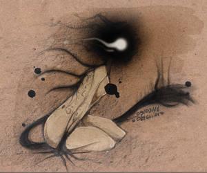  Sketchbook Page #1  Darkness in her soul by 0ktavian