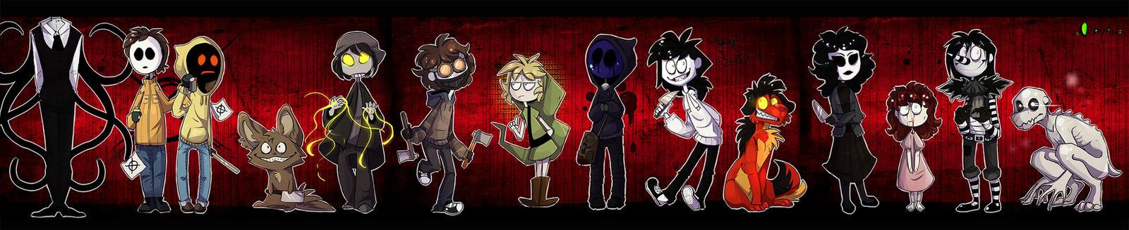 |Creepypasta Fanart| Cartoon CP Monsters by 0ktavian