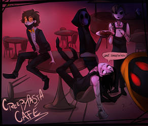 | Art Trade with Alloween | Creepypasta Cafe by 0ktavian