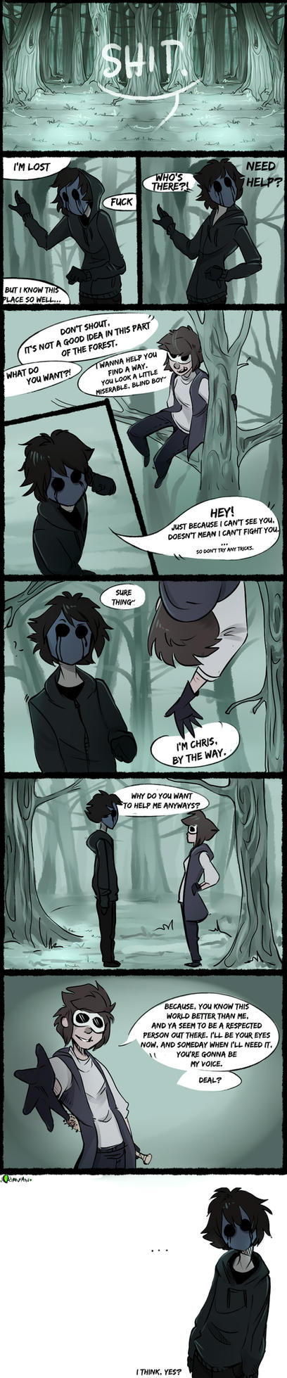  Creepypasta Comic  ''I'll Be The Eyes'' by 0ktavian