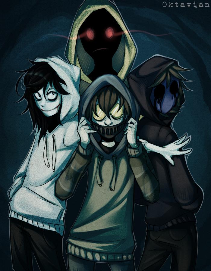 |Creepypasta| Hoodie Squad |+SPEEDPAINT| by 0ktavian on