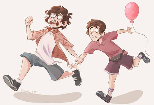  IT Fanart  All abroad the Nope Train