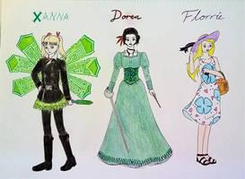 Umei's OCs: Xanna, Dorea, Florrie