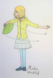 Sea calls to Magic: Minka with a fan
